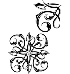 Set Tribal tattoo vector image