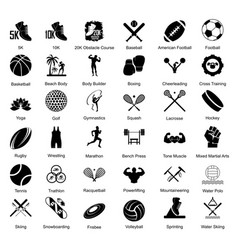 sport icons set vector image vector image