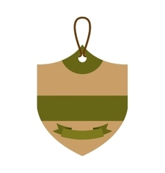 Ecology tag hanging icon vector