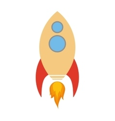 Rocket spaceship science icon graphic vector