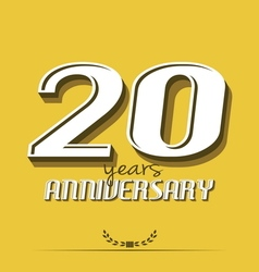 20 years anniversary poster template vector