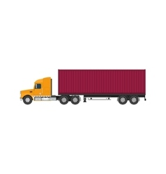 Truck with Cargo Container on White Background vector image