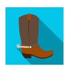 Cowboy boots icon in flat style isolated on white vector image