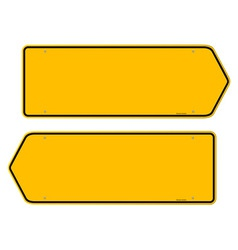 Directions Yellow Sign vector image