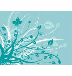 nature floral design vector image