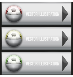 Metallic dropdown sport menu vector