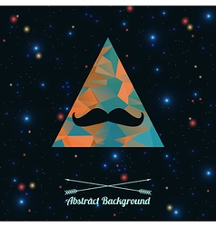 Abstract hipster background with triangle and vector