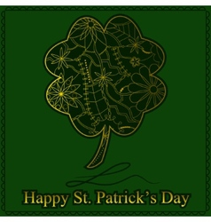 Happy stpatrick day vector