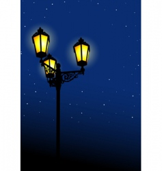 old street lamp vector image