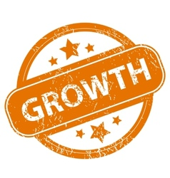 Growth grunge icon vector