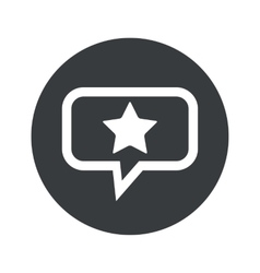 Round dialog star icon vector