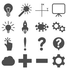 Basic science and knowledge icons vector