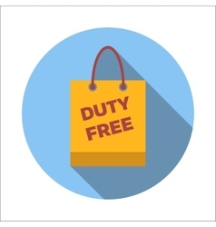 Duty-free bag flat icon vector