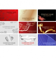 fashion business cards vector image