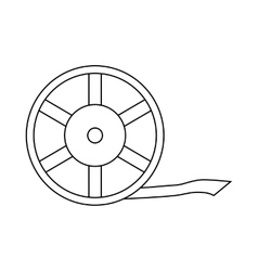 Film reel icon outline style vector