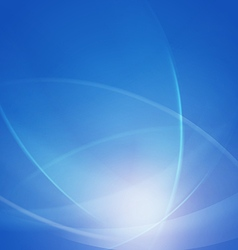 Abstract blue smooth twist light lines waves vector
