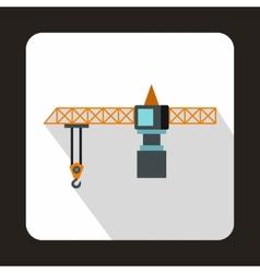 Hoisting crane icon flat style vector