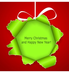 Abstract green Christmas ball vector image