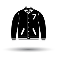 baseball jacket icon vector image vector image