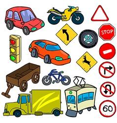 Cartoonish traffic vector image