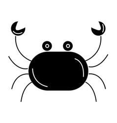 cute crab isolated icon vector image