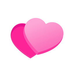 empty box of chocolates in the shape of heart vector image vector image