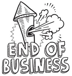 End of business vector image