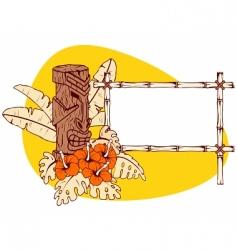 Hawaiian banner vector image vector image
