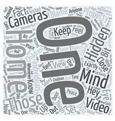 Hidden video cameras word cloud concept vector
