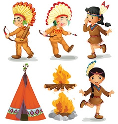 Indians vector image vector image