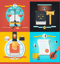 law composition set vector image