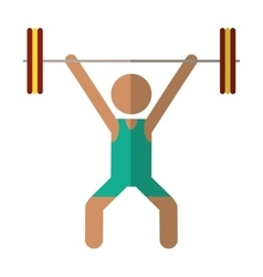 Man weight lifter sport athlete vector