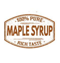 Maple syrup grunge rubber stamp vector