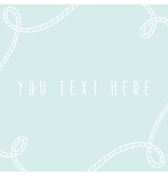 Marine greeting card template vector image