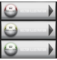 Metallic Dropdown sport menu vector image