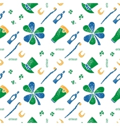 Saint Patrick seamless pattern vector image vector image