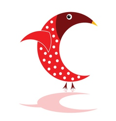 Sparrow in red color vector