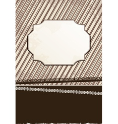 strict brown background vector image
