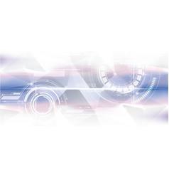 Technological geometric colorful horizontal vector