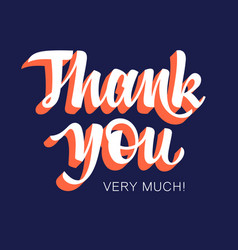 thank you 003 vector image