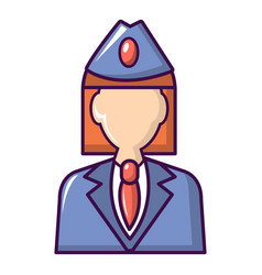 Train conductor icon cartoon style vector
