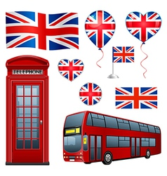 United Kingdom set vector image vector image