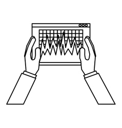 Bars statistics isolated icon vector