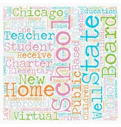 Chicago schools opens its first virtual elementary vector