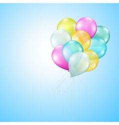 Balloons heaven vector