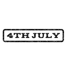 4th july watermark stamp vector
