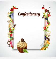Confectionery decorative frame vector