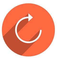 Arrow sign reload icon circle button vector