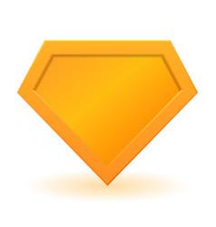 golden superhero logo template vector image