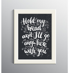 Hand drawn love quote brushpen lettering vector
